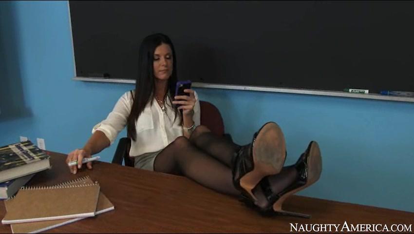 Порно Видео Учительниц В Колготках
